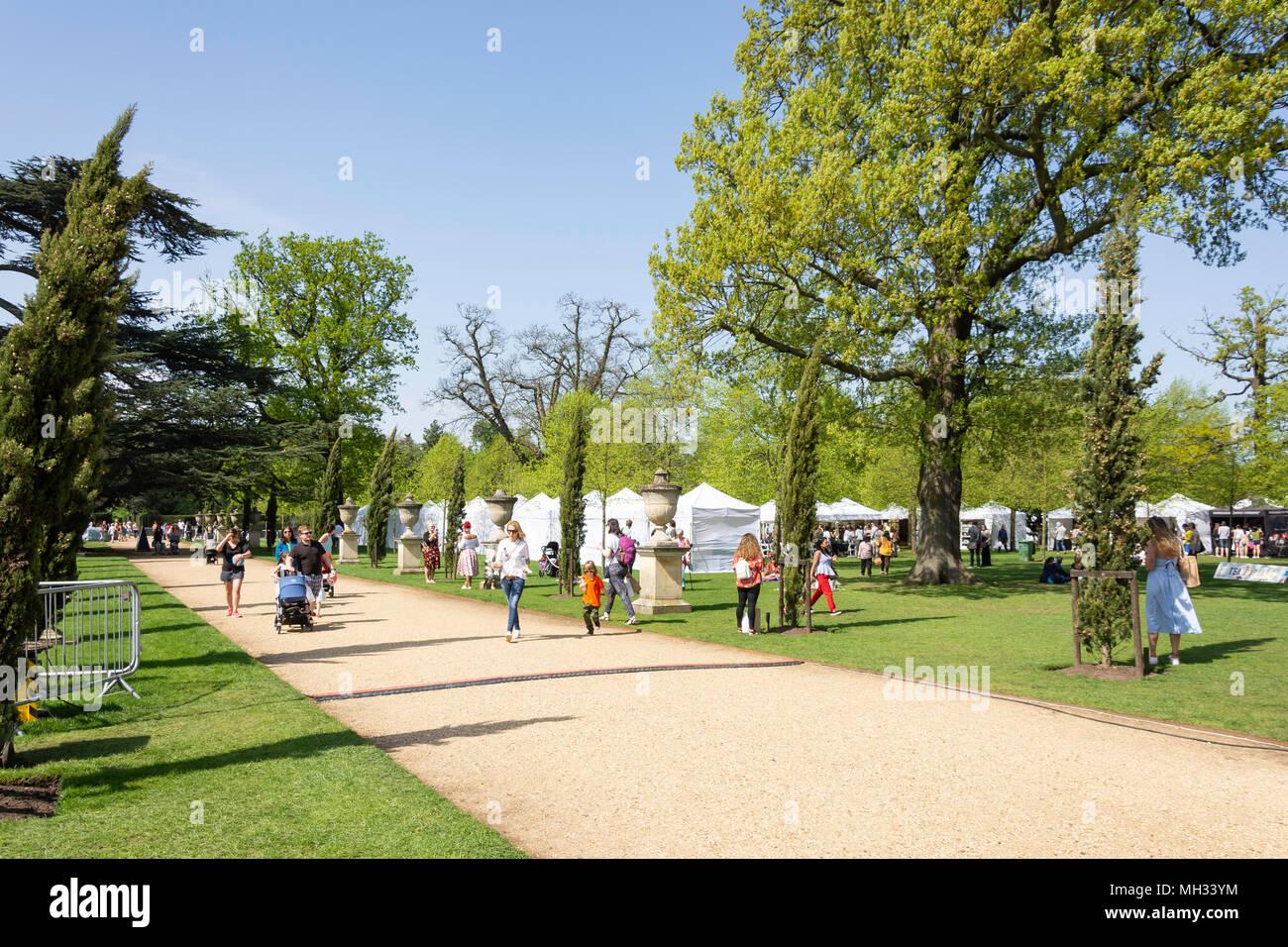 National Tea Day Fes.te.val in Chiswick House gardens, Burlington Lane, Chiswick, London Borough of Hounslow, Greater London, England, United Kingdom - Stock Image