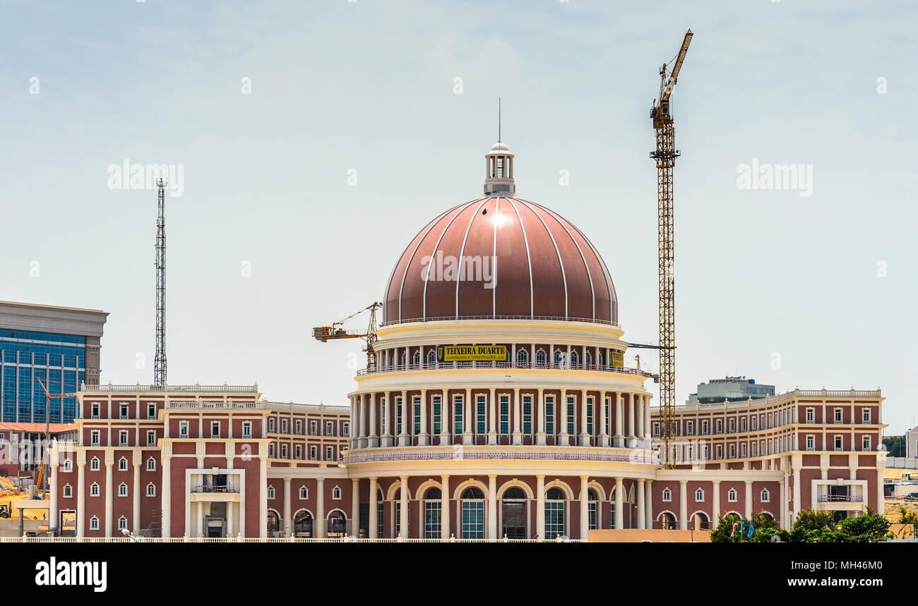 Downtown of Luanda and the National Bank of Angola - Stock Image
