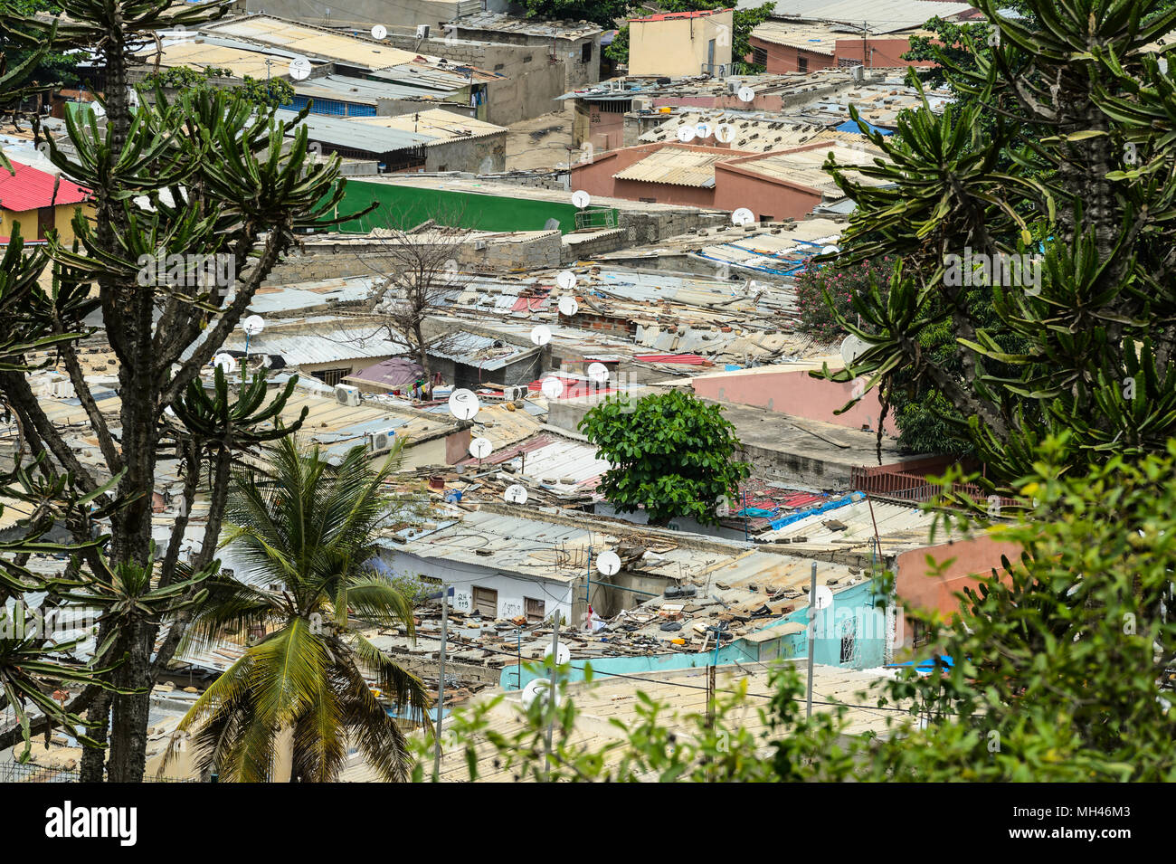 Living place in Angola, Luanda Stock Photo