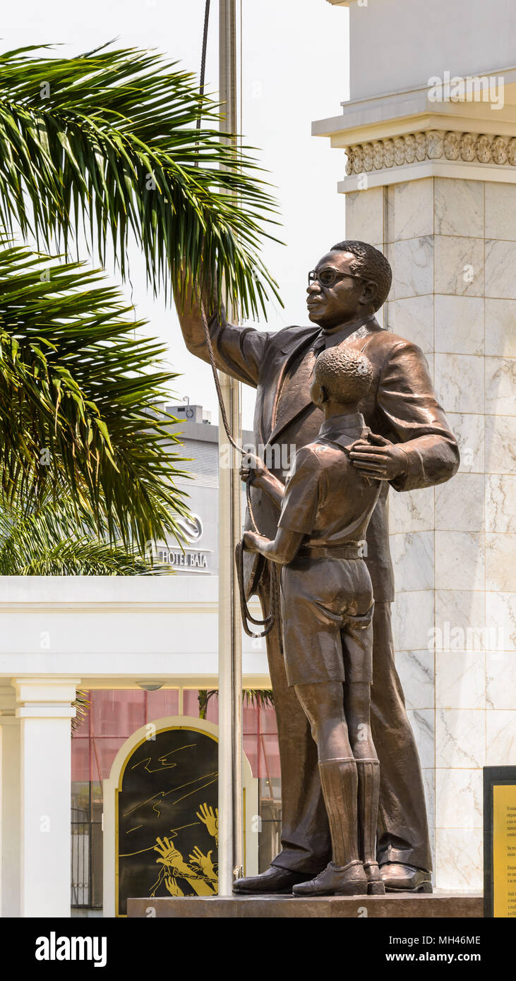 Monument in Luanda, Angola - Stock Image