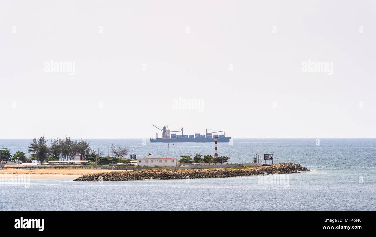 Coast of Luanda, Angola - Stock Image