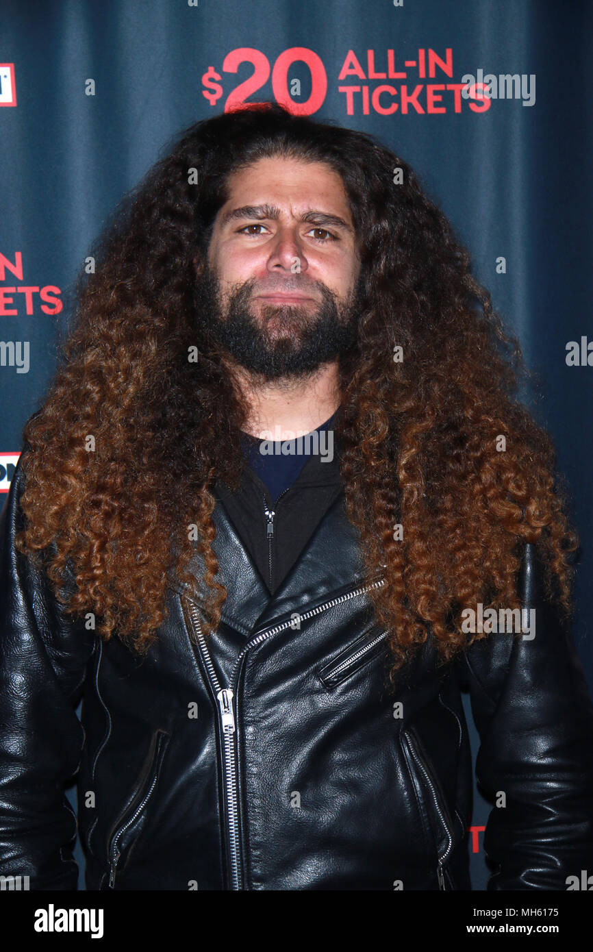 New York, NY, USA  30th Apr, 2018  Claudio Sanchez of Coheed