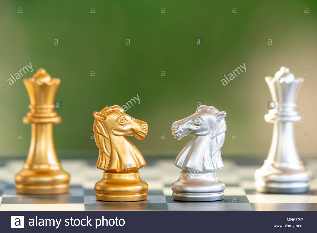 International Day of Chess, figures. - Stock Image