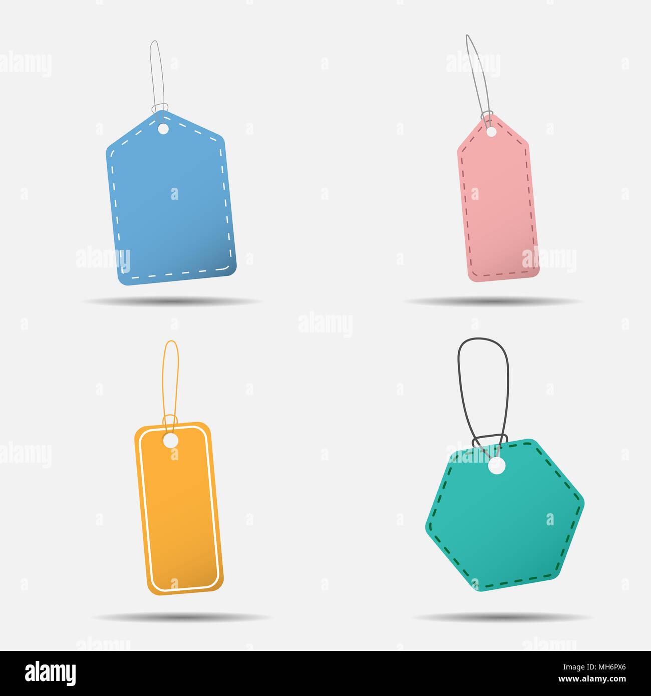 Colorful hang sale tag, illustration eps10 - Stock Image