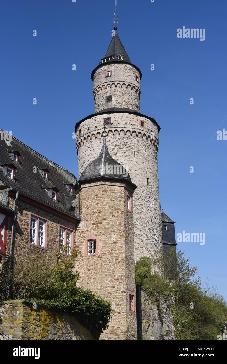 Hexenturm, Bergfried, Altstadt, Idstein, Turm Stock Photo