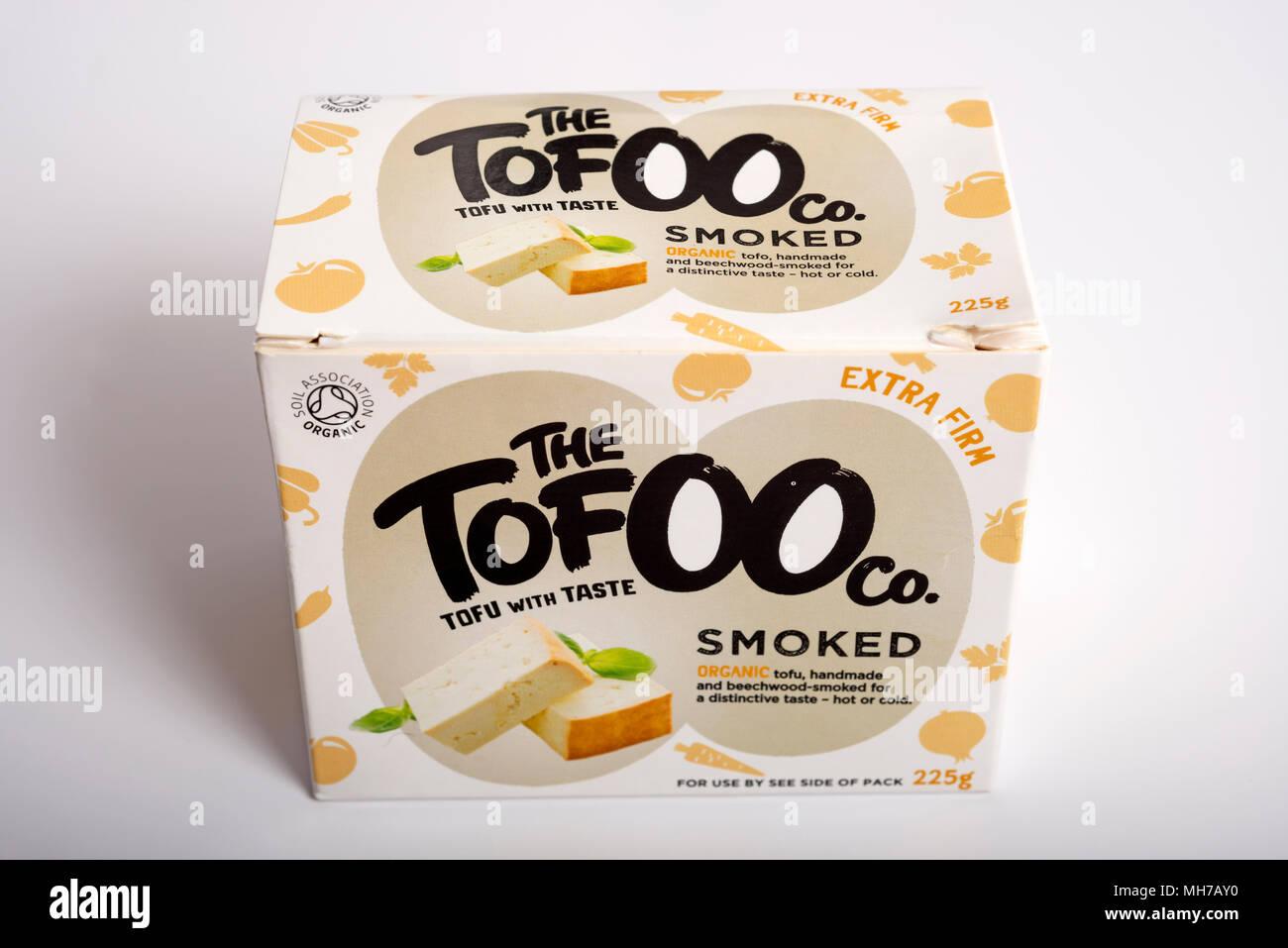 The Tofoo company smoked organic tofu - Stock Image