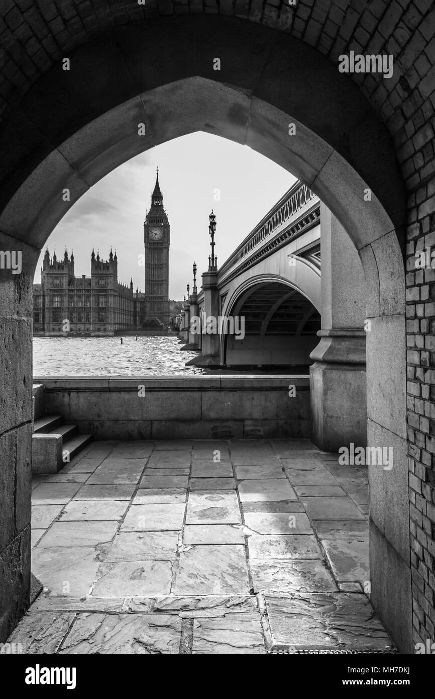 Big Ben From Across River - Stock Image