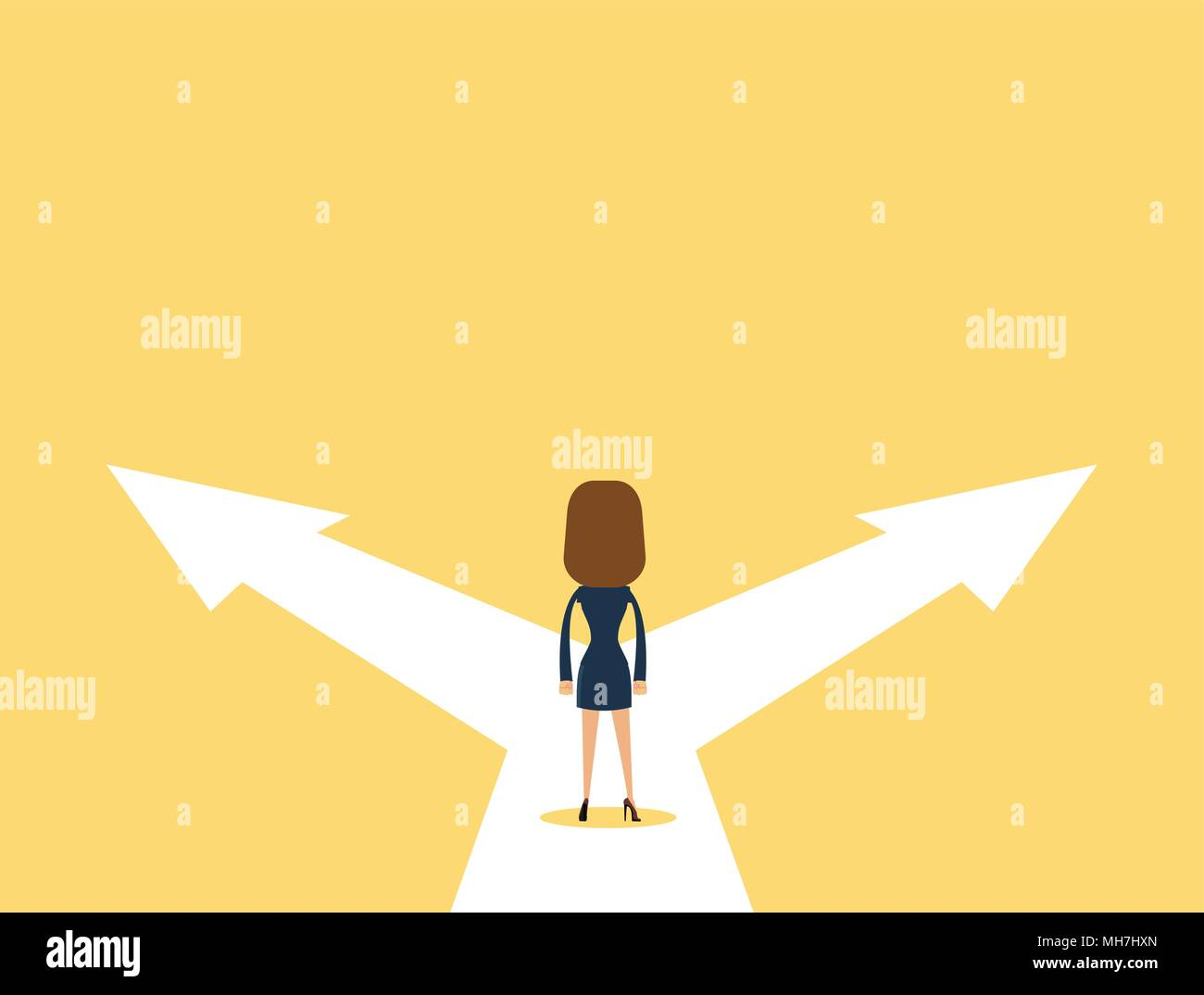 Business decision concept vector illustration. - Stock Image