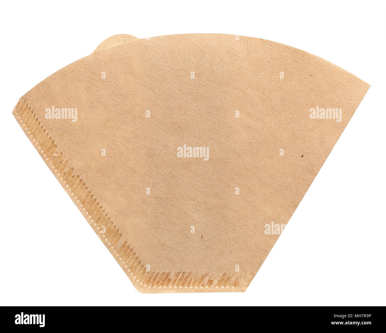 One New Unused Coffee Filter Flat Isolated On White Background