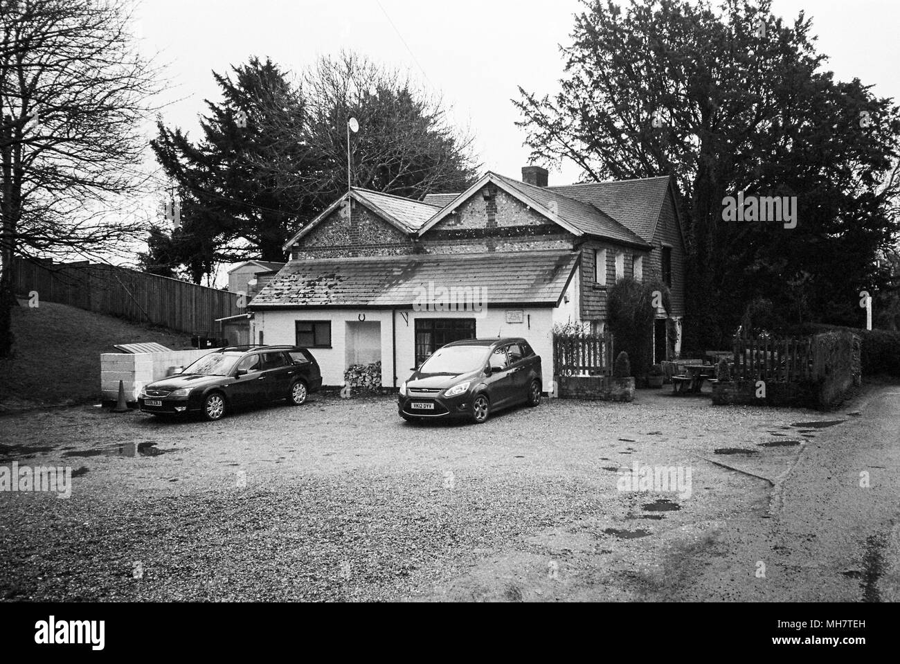 The Yew Tree public house in Lower Wield, Alresford, Hampshire, England, United Kingdom, - Stock Image