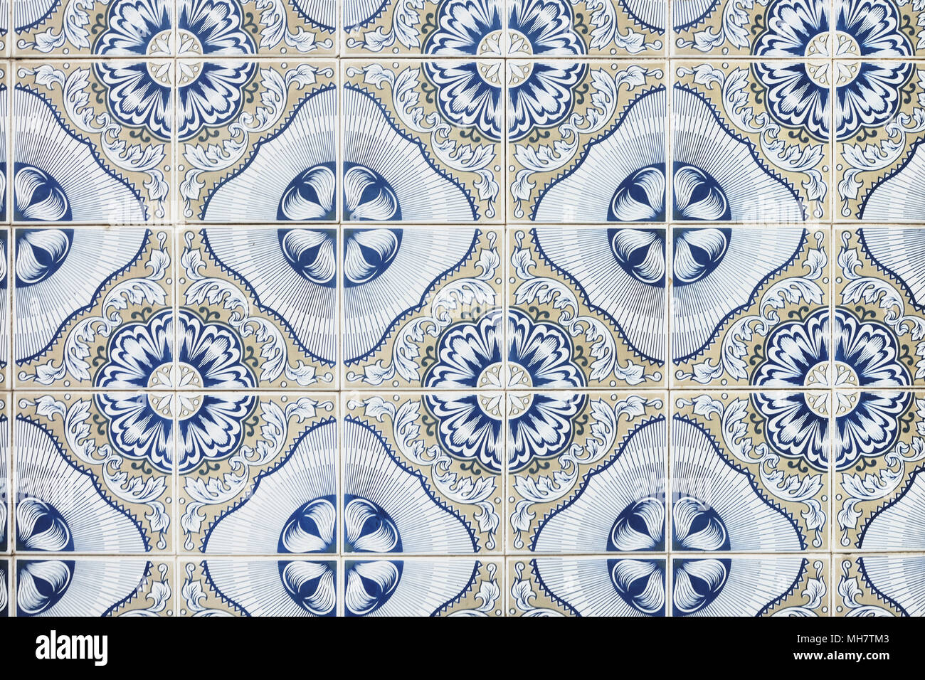 Typical portuguese decorations on a wall with colored ceramic tiles typical portuguese decorations on a wall with colored ceramic tiles traditional mosaic tiles azulejos dailygadgetfo Images