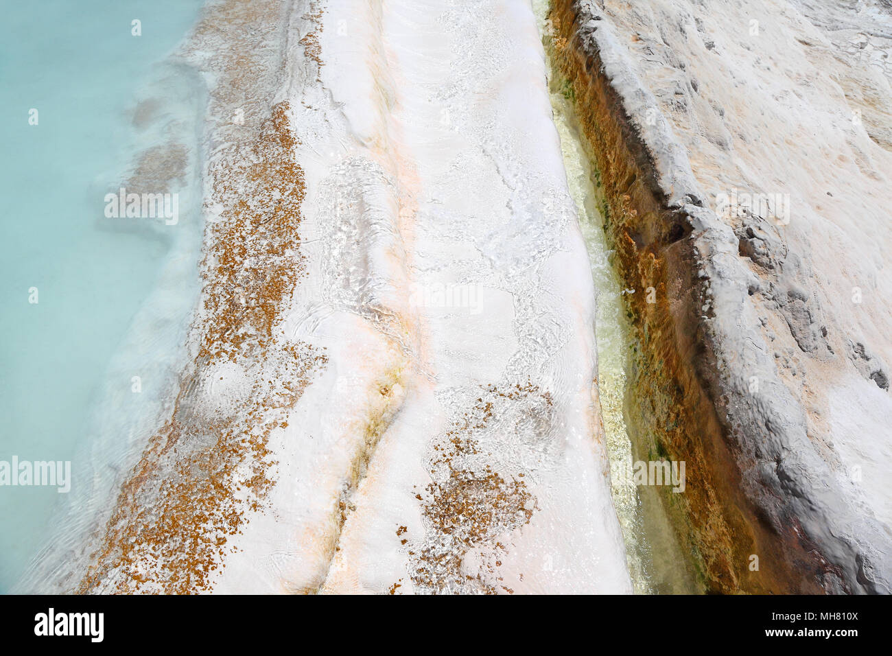 Pamukkale: Natural thermal springs, Turkey - Stock Image
