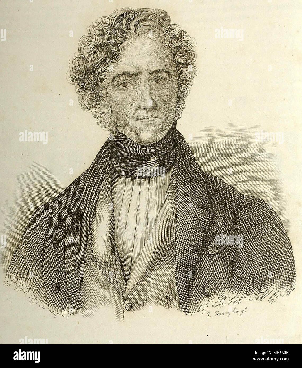Juan Álvarez Mendizábal, born Juan Álvarez Méndez (1790 – 1853), Spanish economist and politician who served as Prime Minister of Spain from 1835 - 1836. - Stock Image