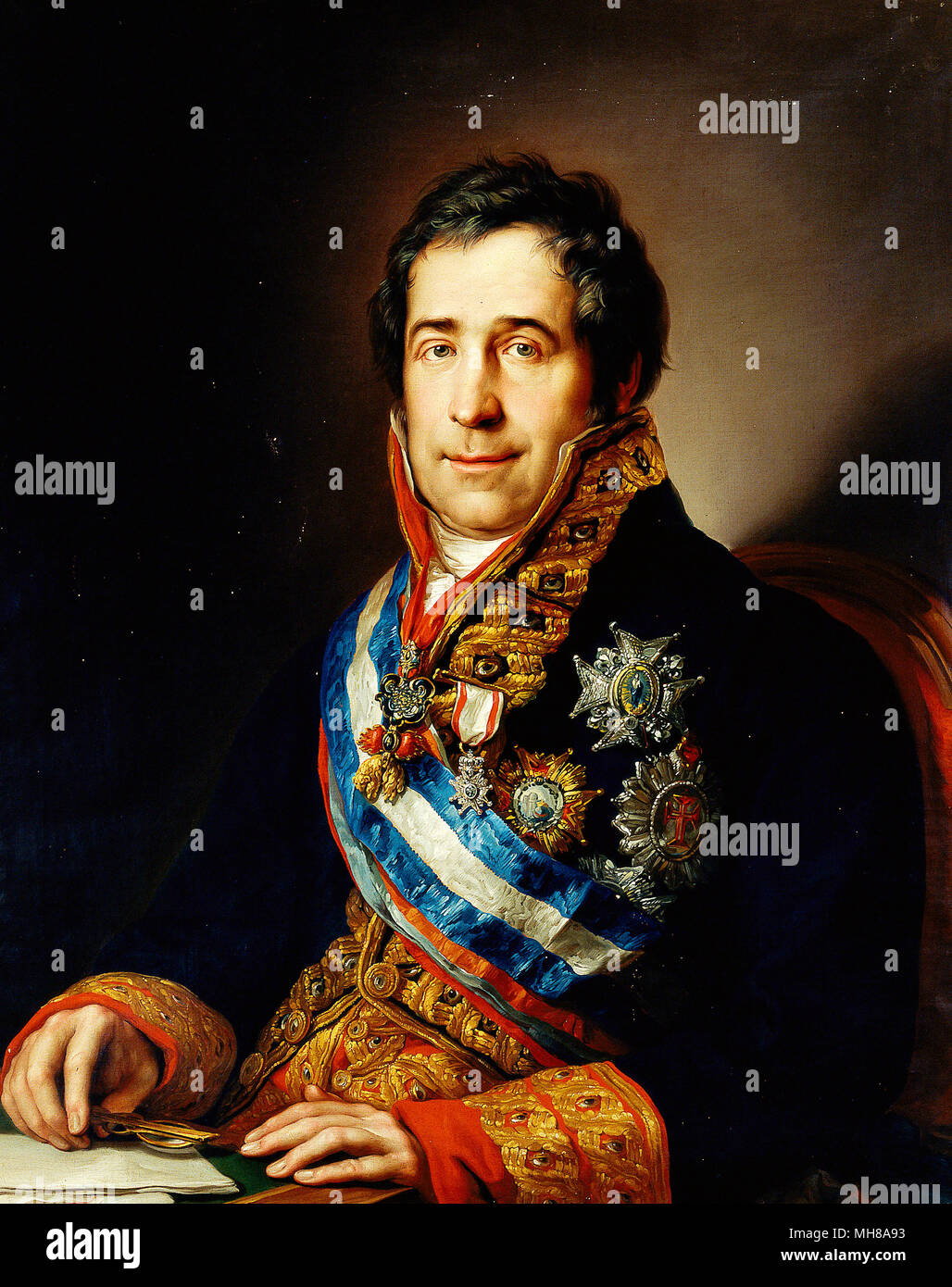 Francisco Tadeo Calomarde y Arría, 1st Duke of Santa Isabel (1773 – 1842) Spanish statesman and Prime Minister of Spain - Stock Image