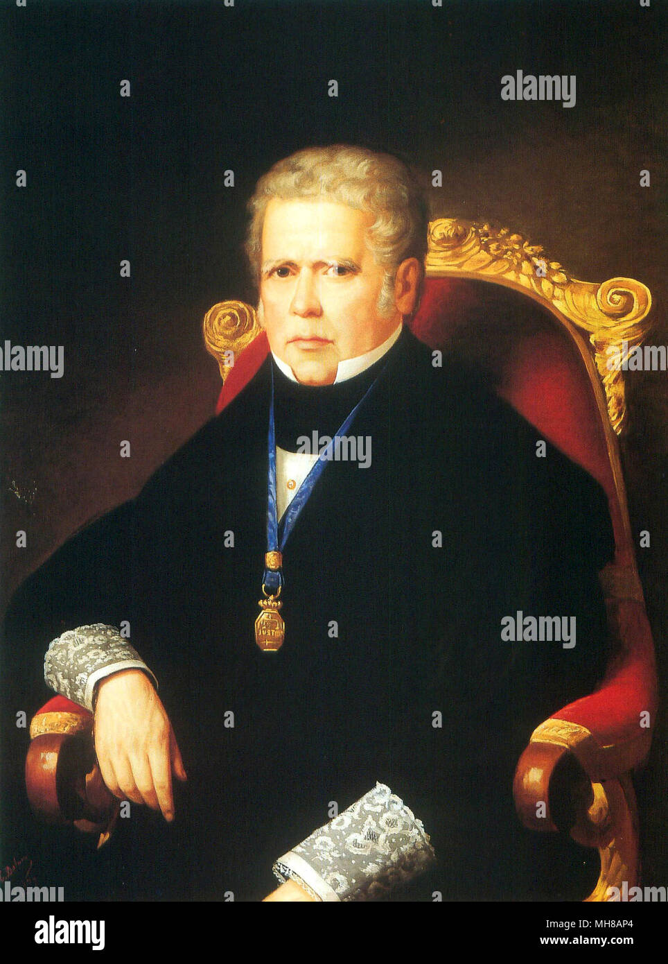 Álvaro Gómez Becerra (1771 – 1855) Spanish politician and Prime Minister of Spain in 1843. - Stock Image