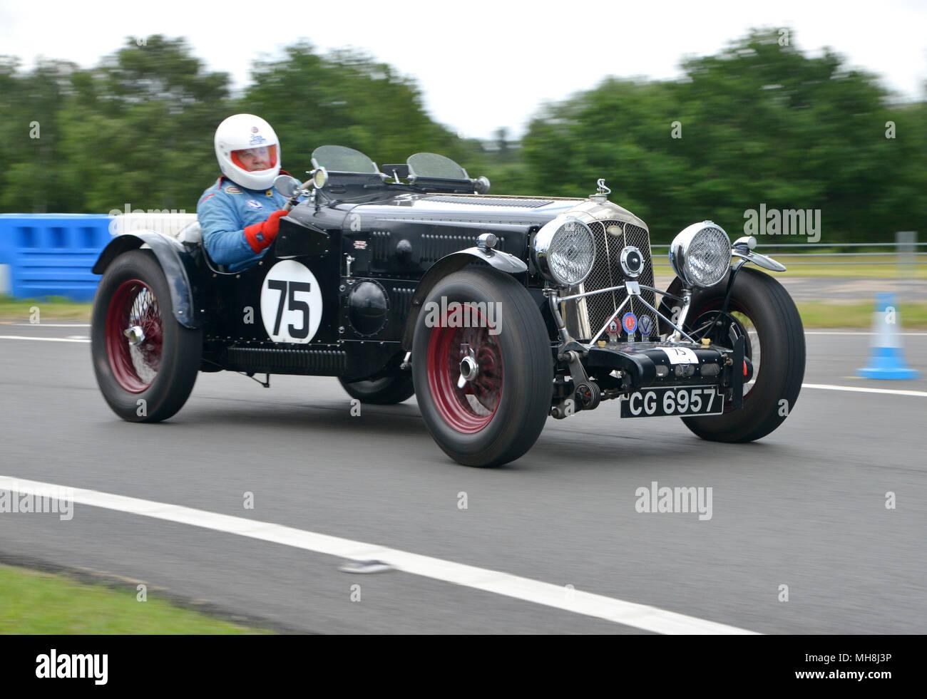 1934 Wolseley Hornet pre war sports car on track - Stock Image