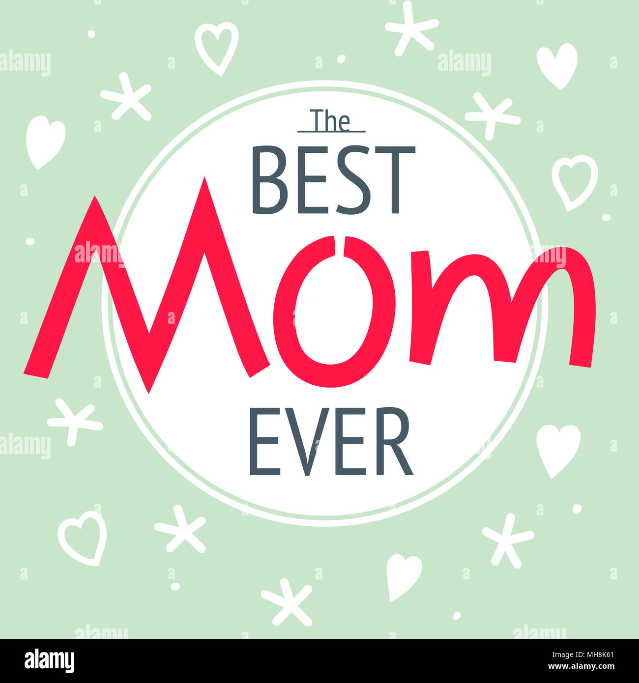 Happy Mothers Day Layout Greeting Card Design Frame With Lettering