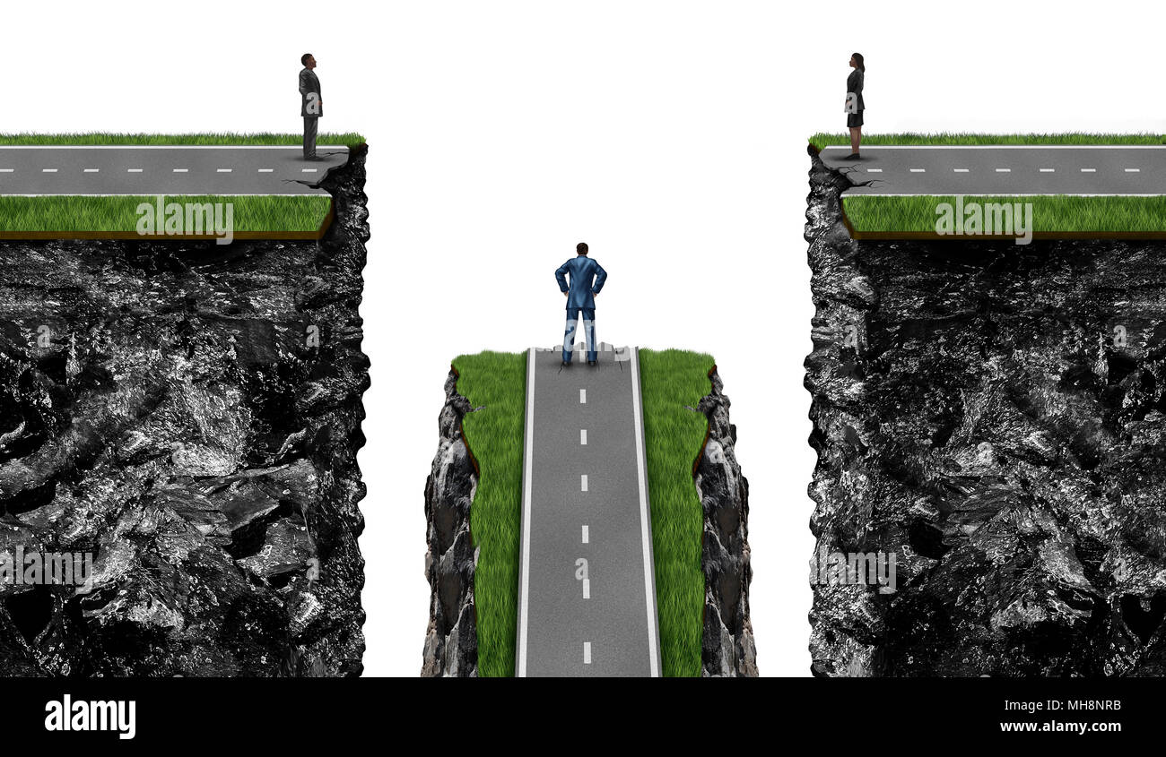 Meeting difficulty and partner problems and communication with 3D illustration elements. - Stock Image