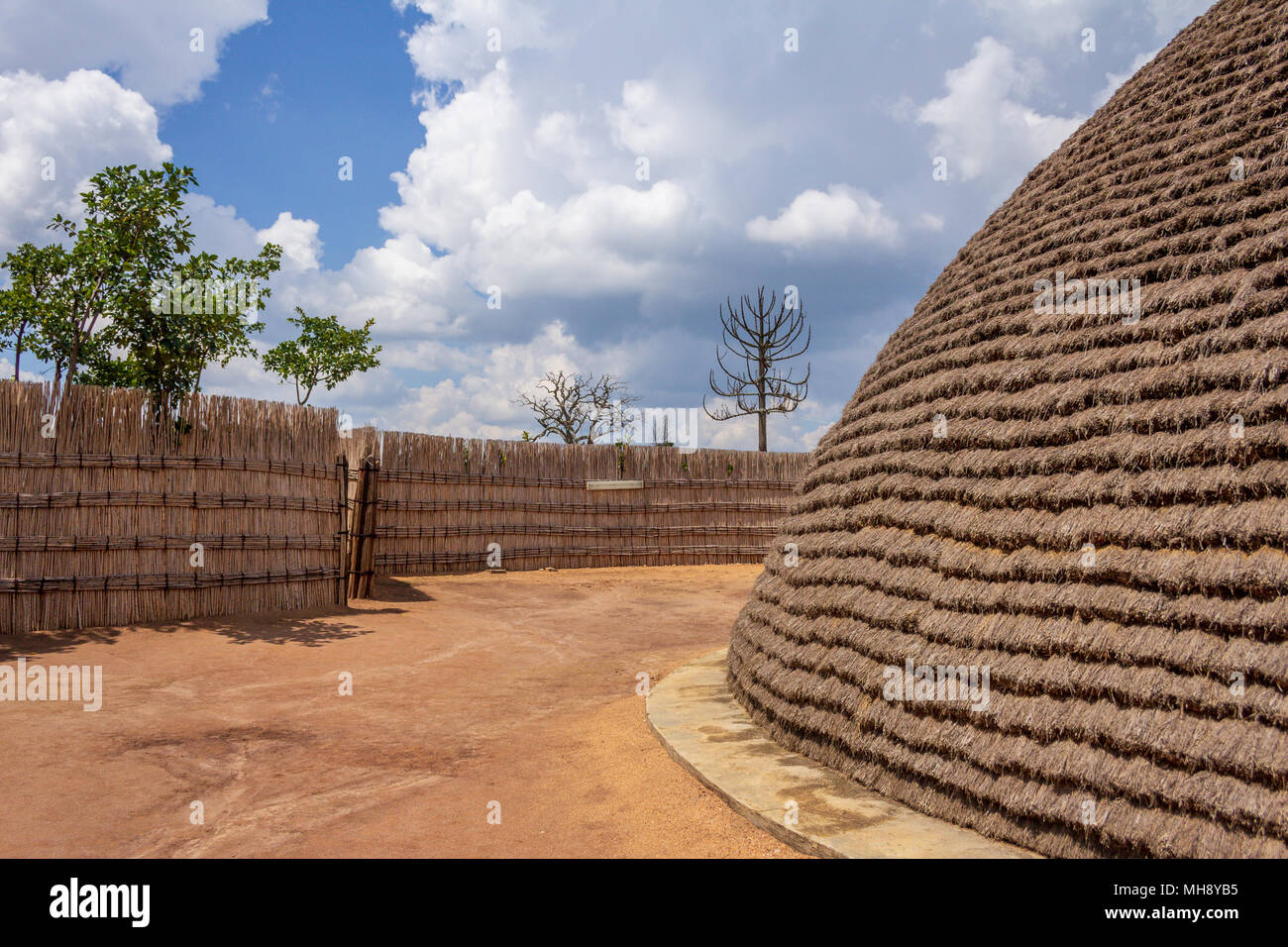 A reconstruction of the King's Palace in Nyanza, Rwanda, Africa - Stock Image