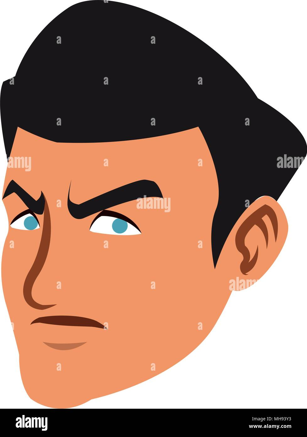 Cartoon Character Businessman is Upset and Covers His Face ...
