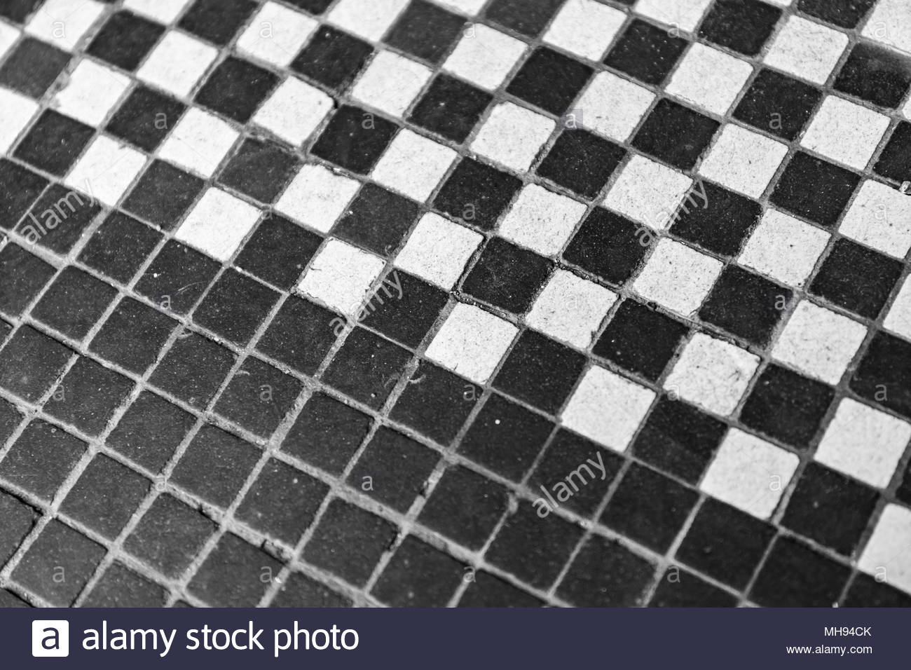 Black And White Tiled Floor Black White Stock Photo 182753891