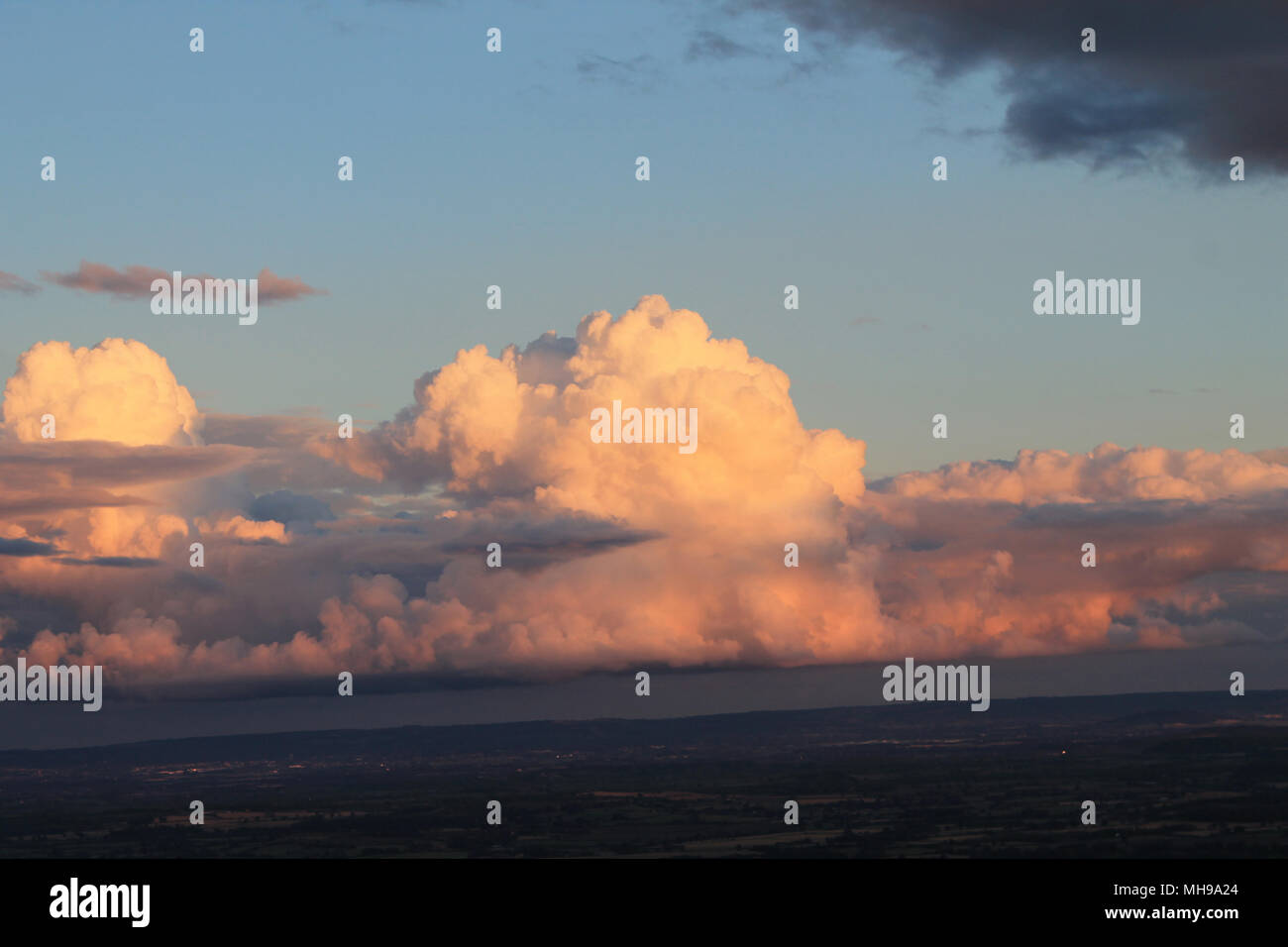Cumulonimbus at Sunset - Stock Image