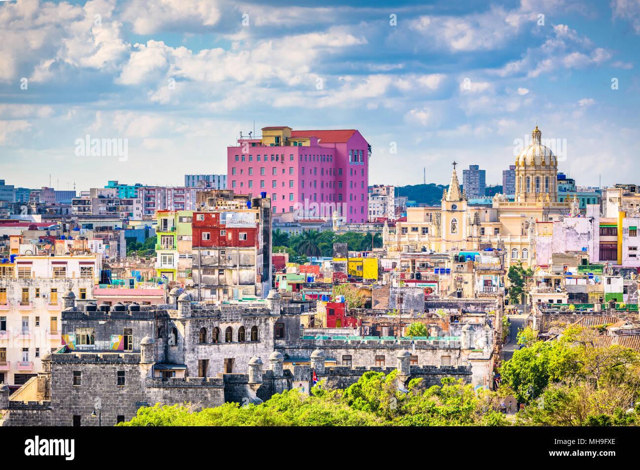 Havana, Cuba downtown skyline. - Stock Image