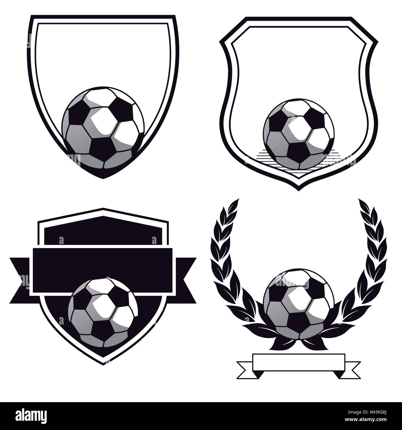 Set of football club signs - Stock Vector