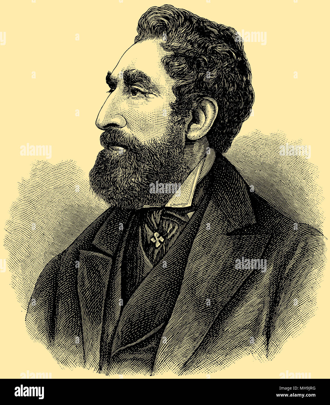 Sir Edward George Earle Bulwer- Lytton (born in May 1805 died January 18, 1873 ), Stock Photo