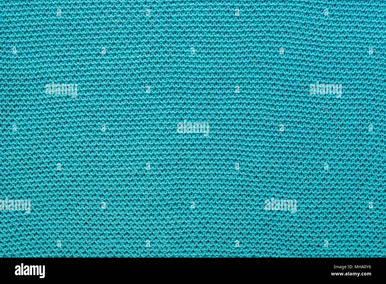 Turquoise Color Knitwear Cotton Fabric Background Texture Stock