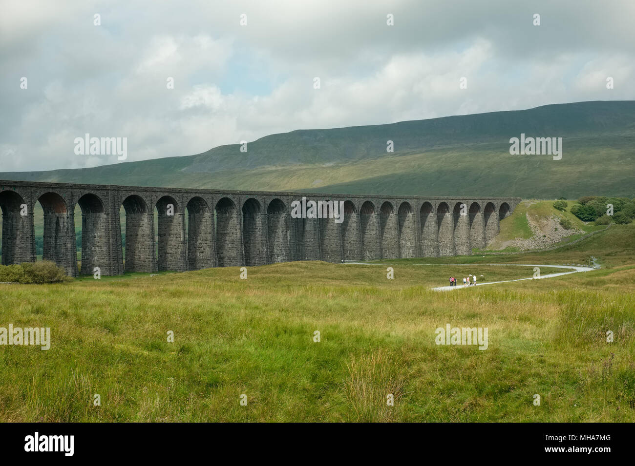 Ribblehead Viaduct in the Yorkshire Dales in England - Stock Image