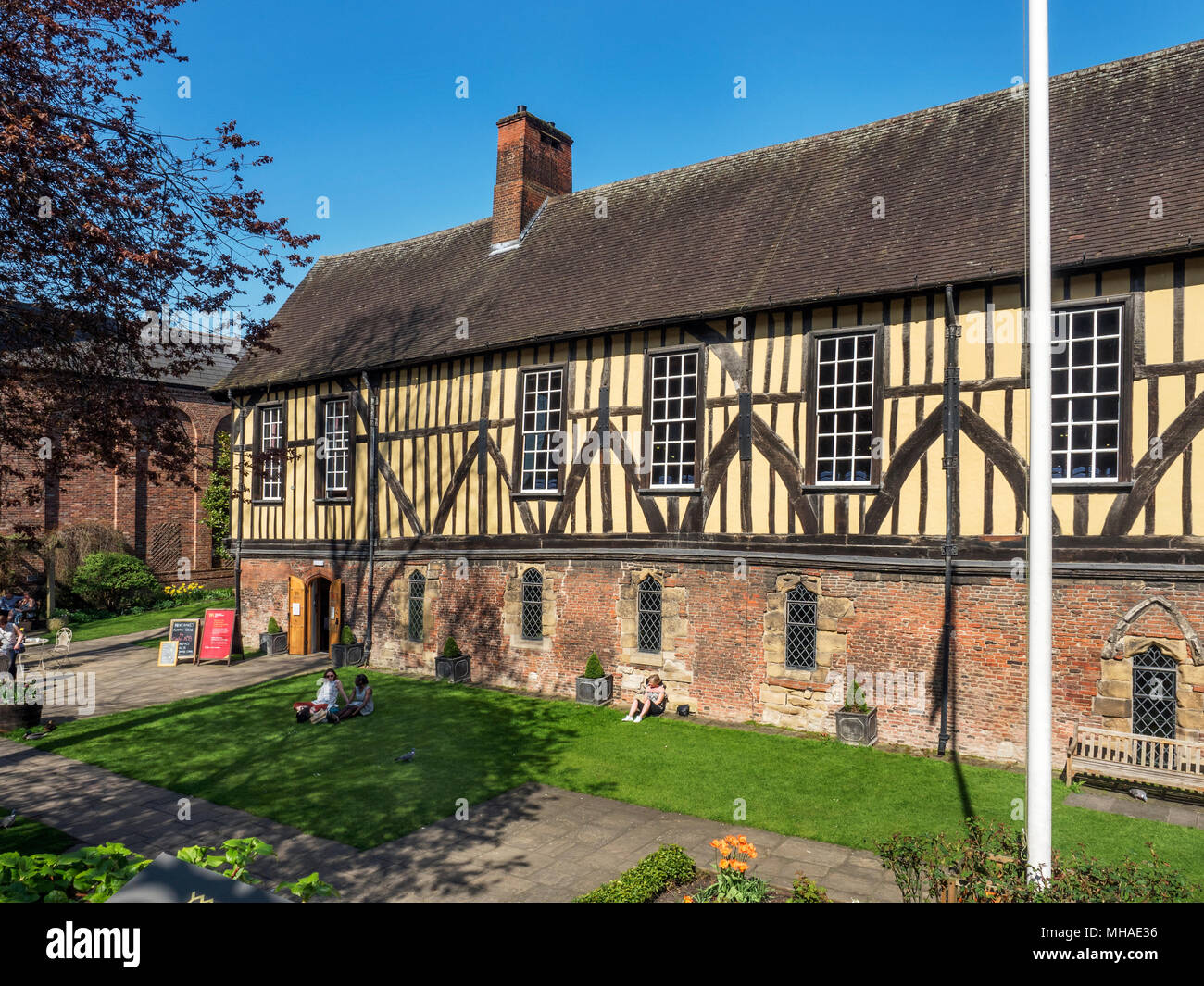 The Merchant Adventurers Hall a historic medieval guildhall in York Yorkshire England - Stock Image