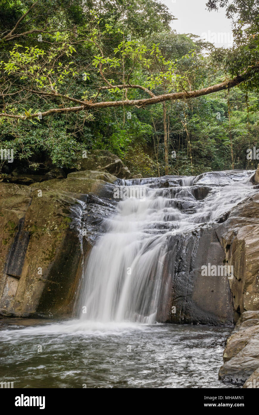 Pala-U Waterfall, Kaeng Krachan National Park, Thailand   Pala-U Wasserfall, Kaeng Krachan Nationalpark, Thailand - Stock Image