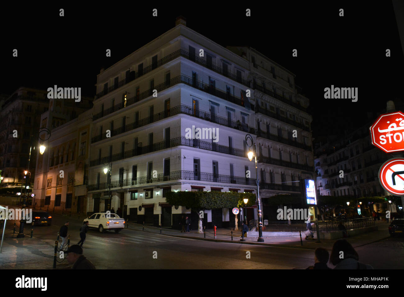 City of Algier in the night. - Stock Image