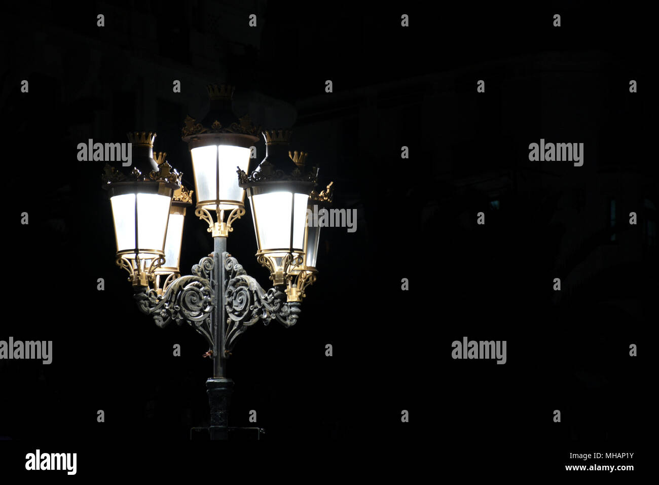 Streetlight in city of Algiers. - Stock Image