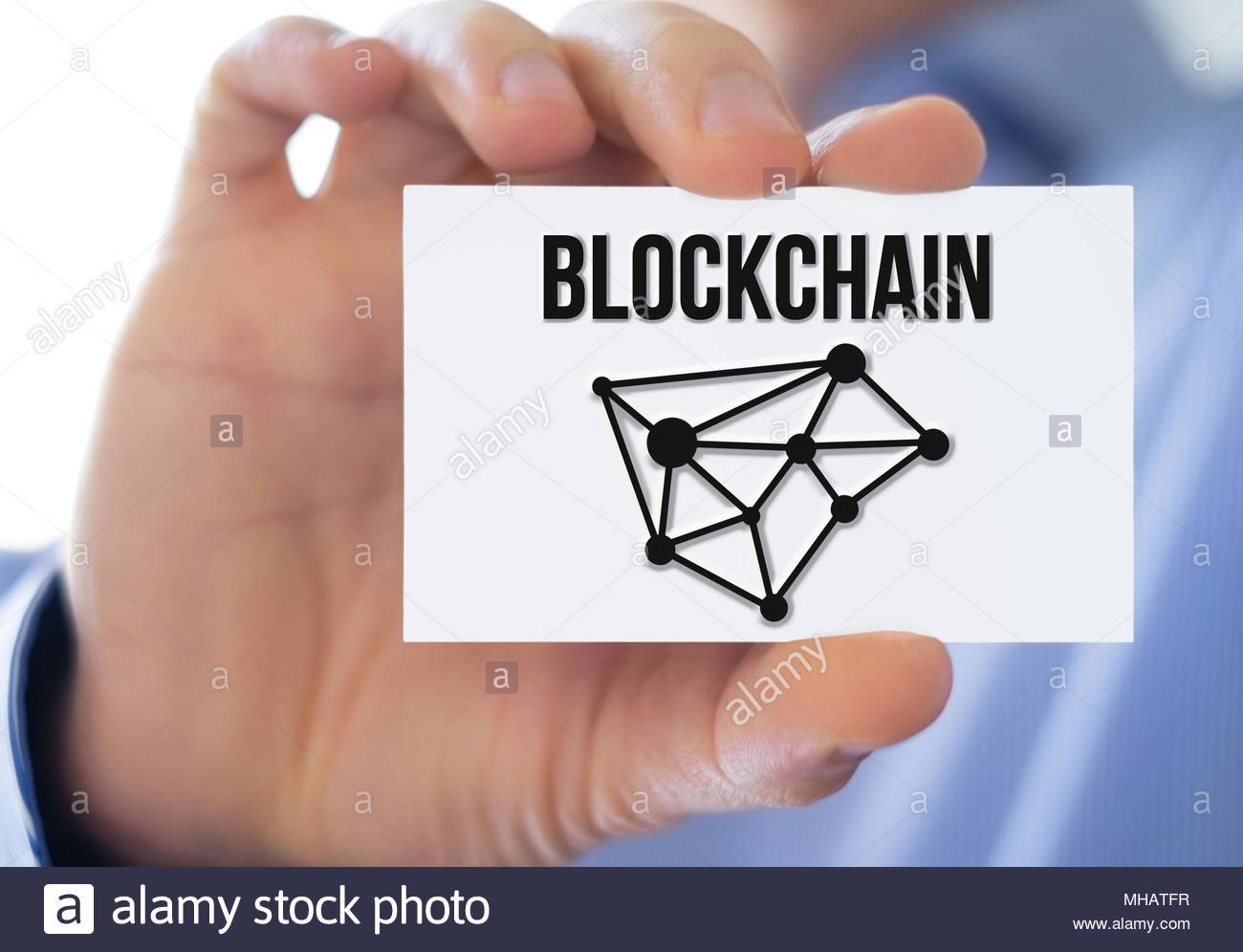 Cryptocurrency and blockchain concept - Stock Image
