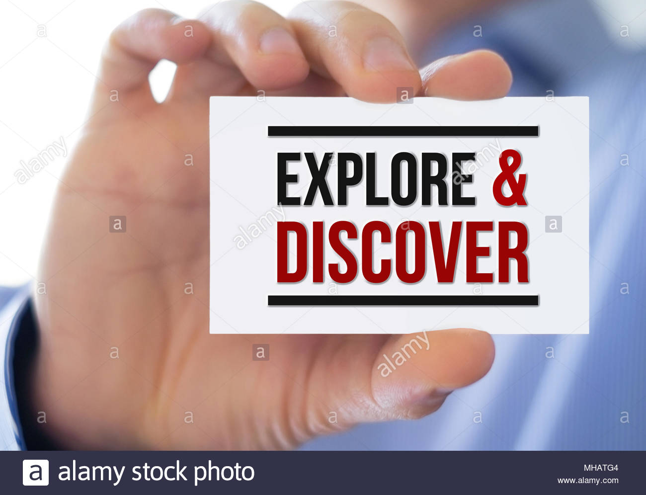Explore and Discover - Stock Image