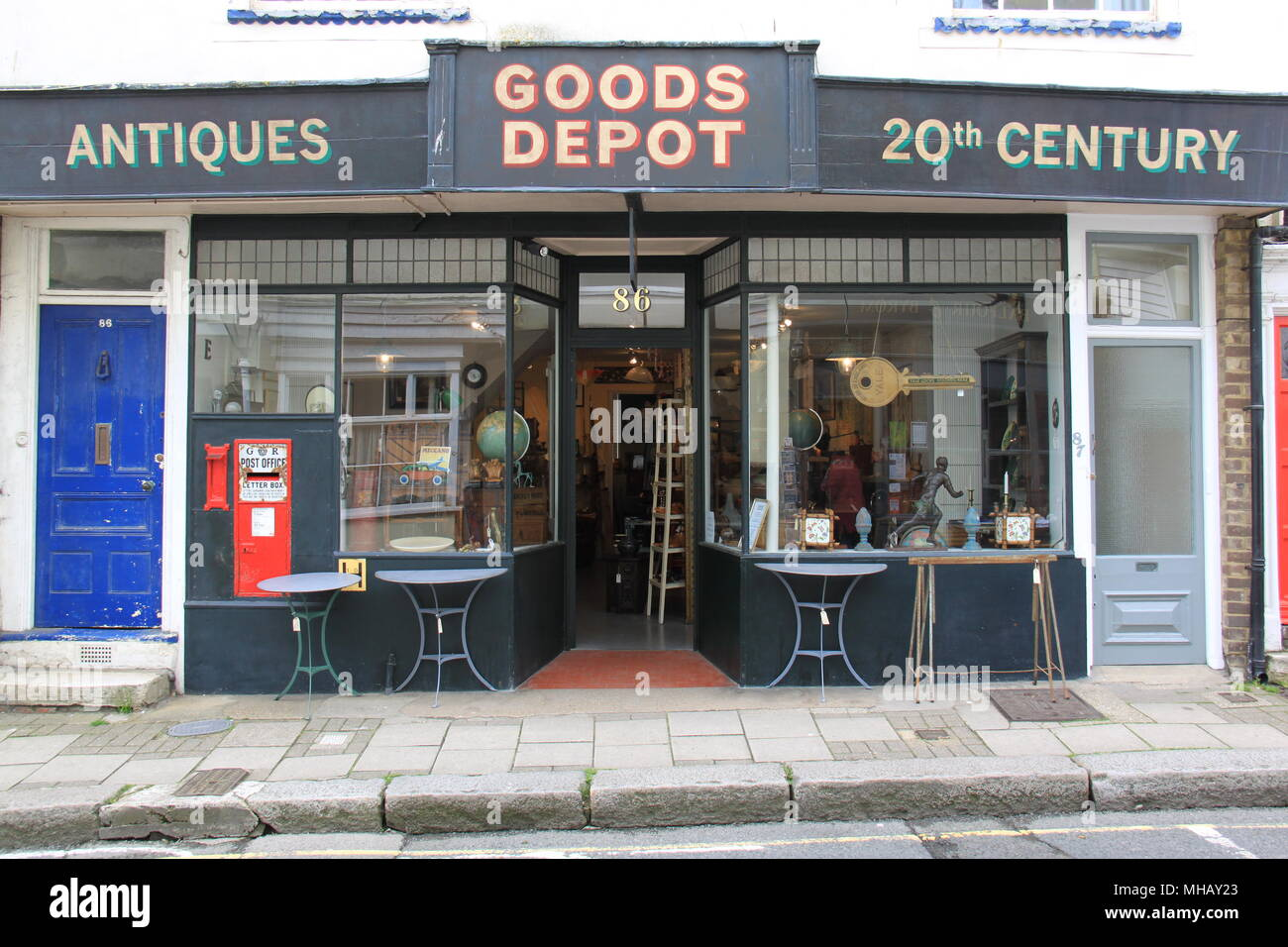 Goods Depot, Antiques Shop, 86 High Street, Hastings Old Town, Hastings, Sussex, England, UK, PETER GRANT - Stock Image