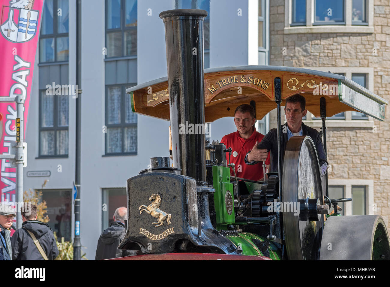 steam engine trevithick day in camborne, cornwall, england, britain, uk. - Stock Image