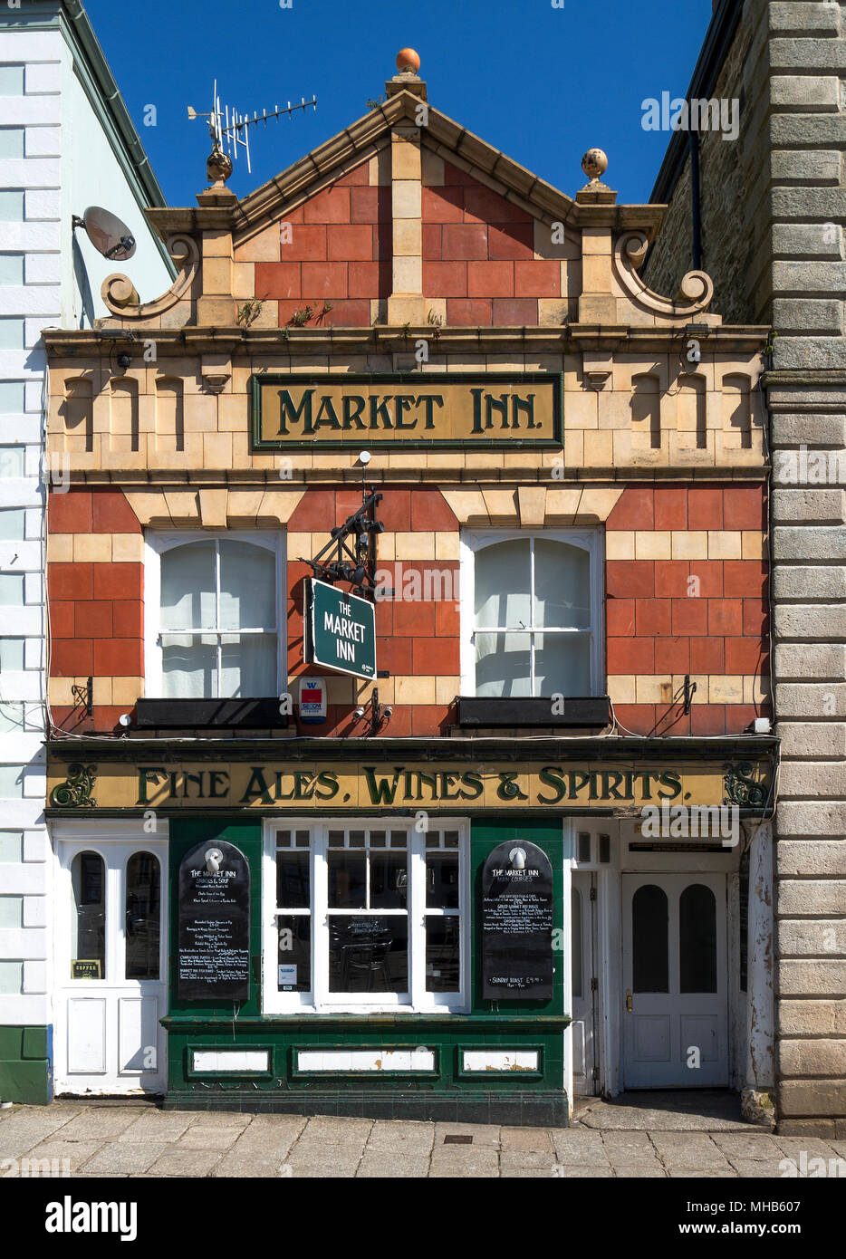 the market inn traditional english pub in truro, cornwall, england, britain, uk. - Stock Image