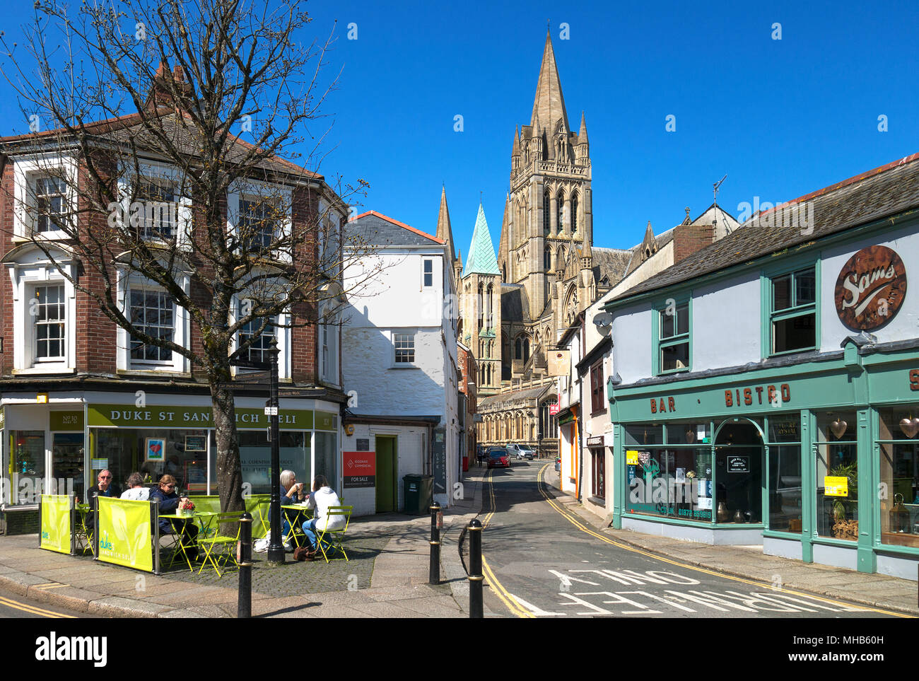the cathedral city of truro in cornwall, england, britain, uk. - Stock Image