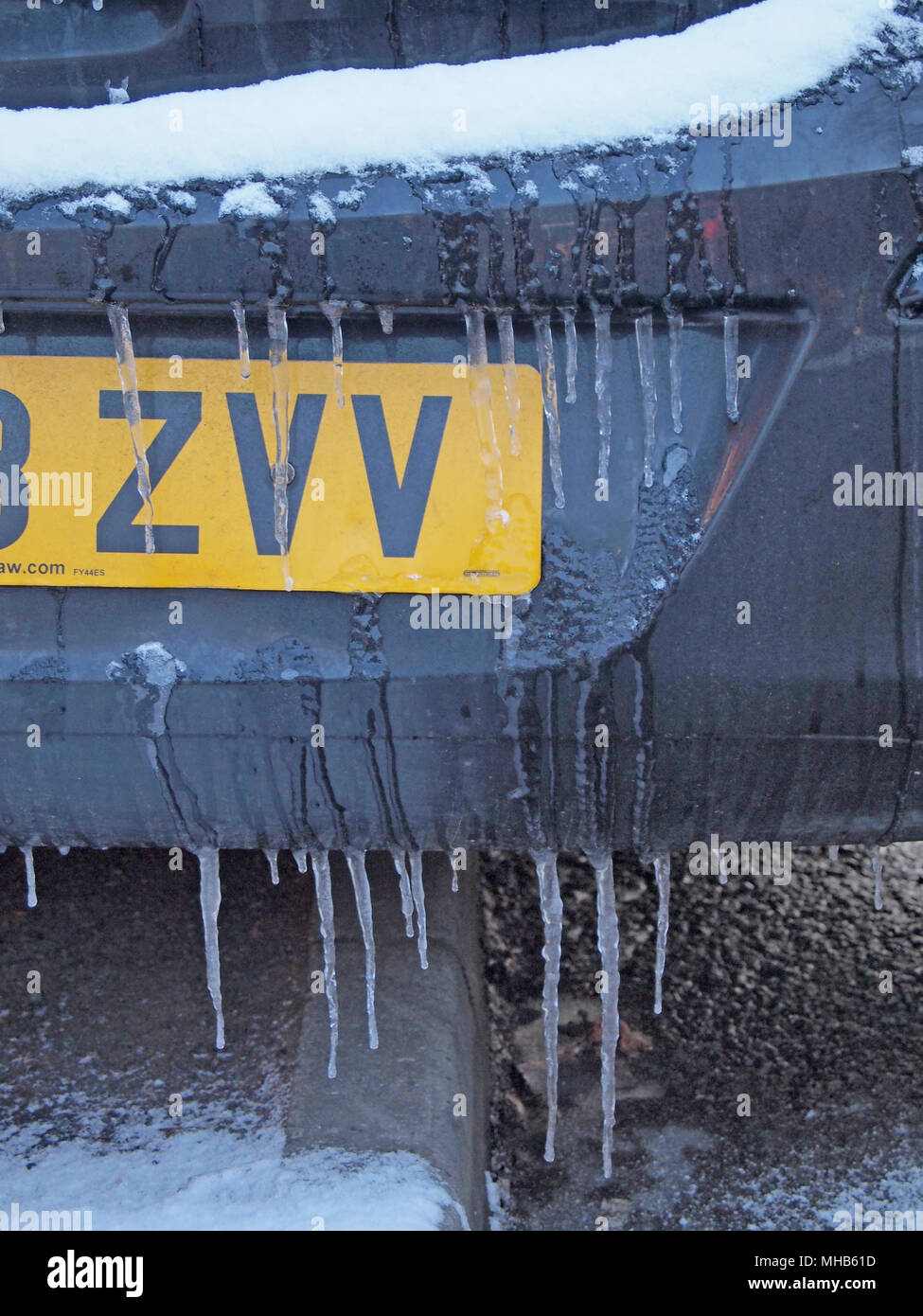 Icicles On Car Stock Photos & Icicles On Car Stock Images