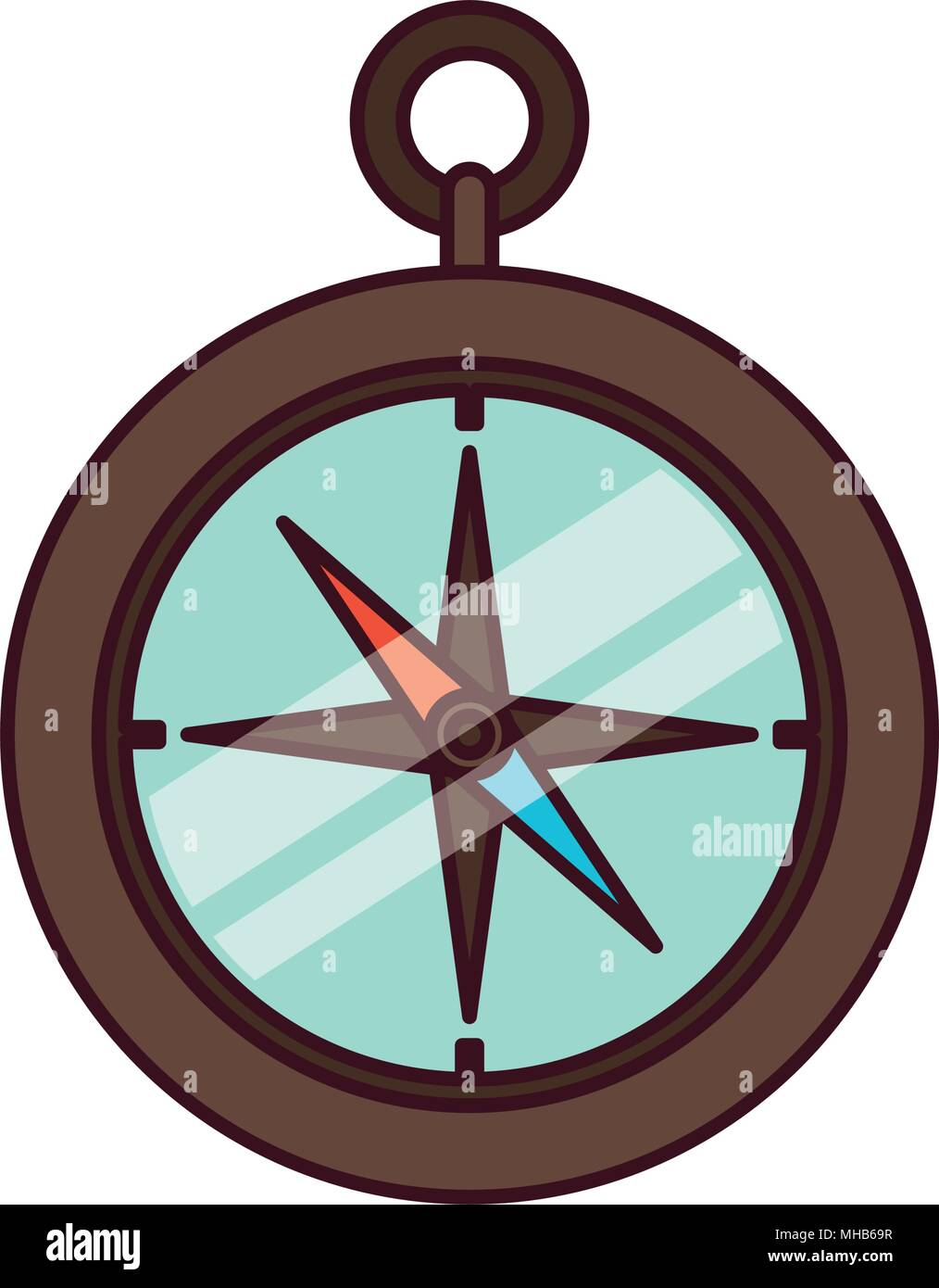 compass guide isolated icon - Stock Vector
