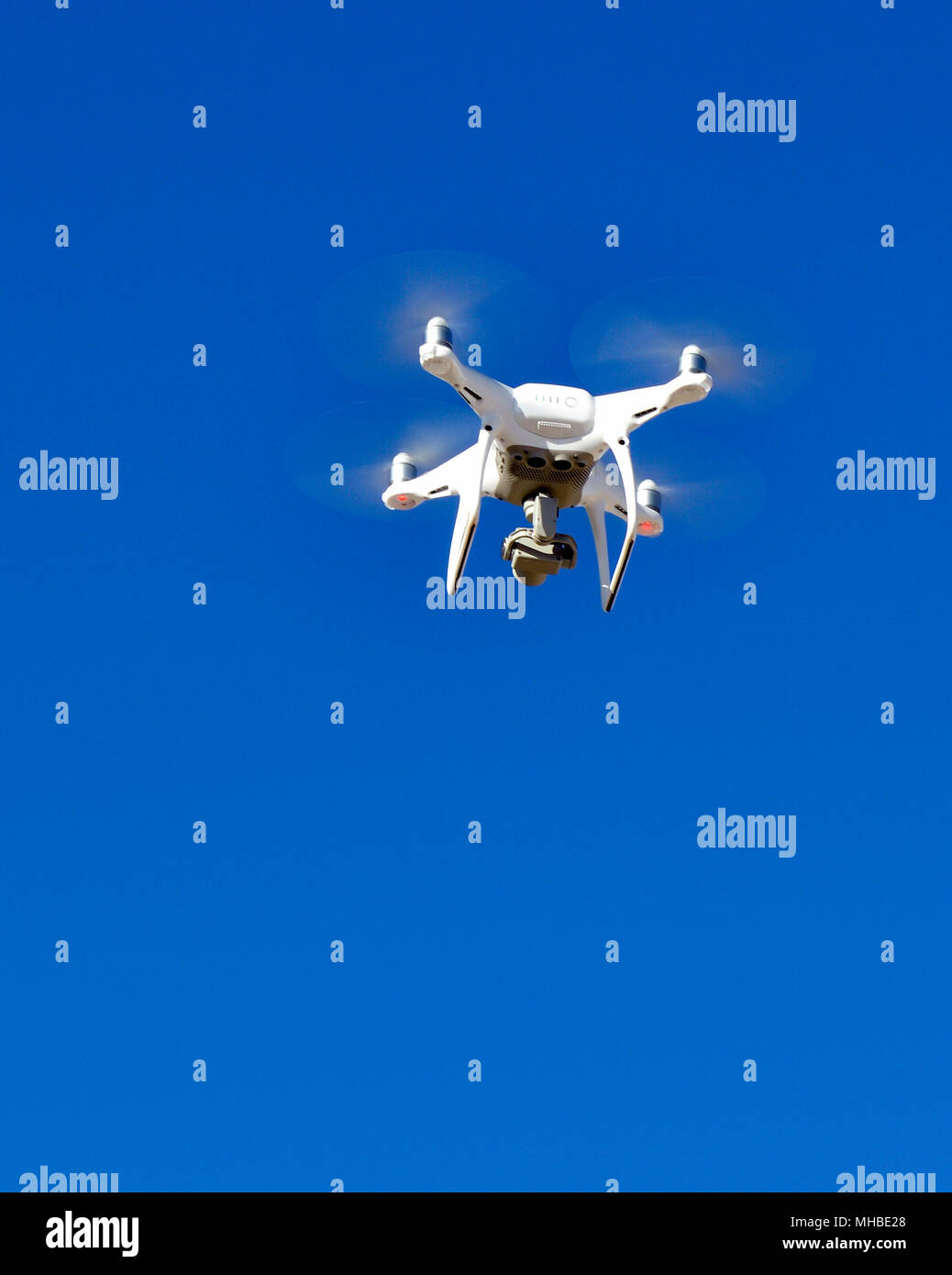 Operating a Drone over the Nevada Desert - Stock Image