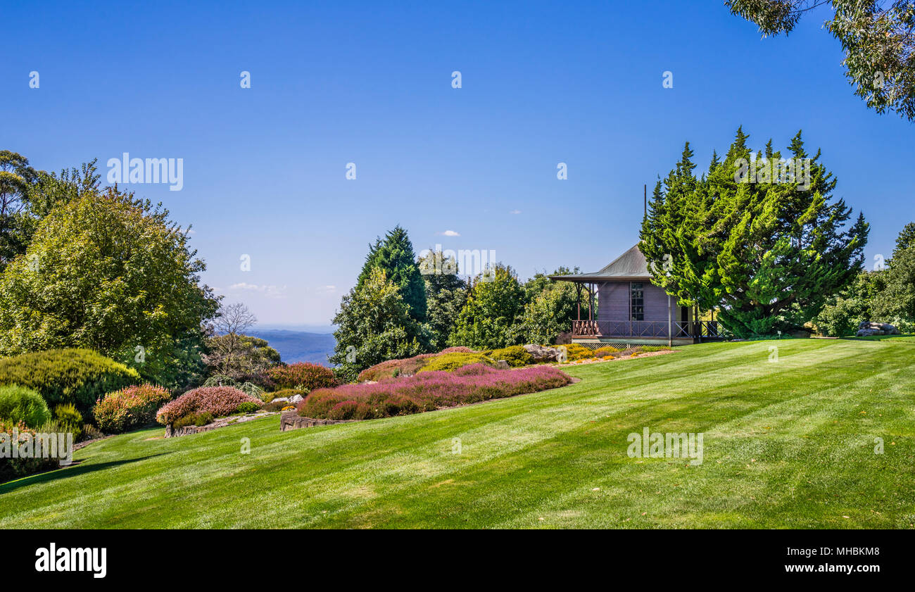 Northern Pavilion at the Heat and Heater Garden of Blue Mountains Botanic Garden, Mount Tomah, the 128 hectare public garden, 1000 m above sea level s - Stock Image
