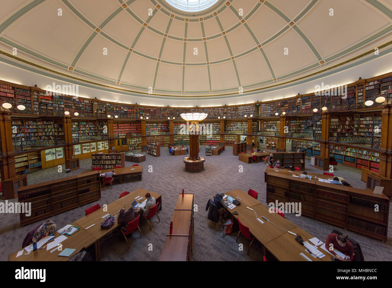 Interior of the Picton Reading Room in Liverpool's Central Library Stock Photo