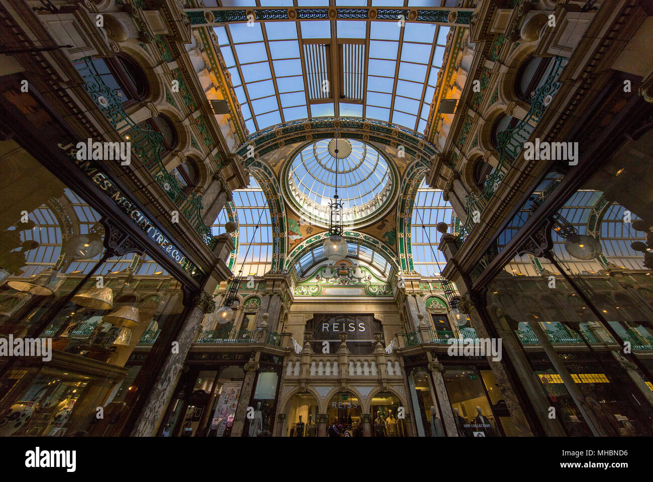 Interior of the County Arcade in Leed's Victoria Quarter Stock Photo
