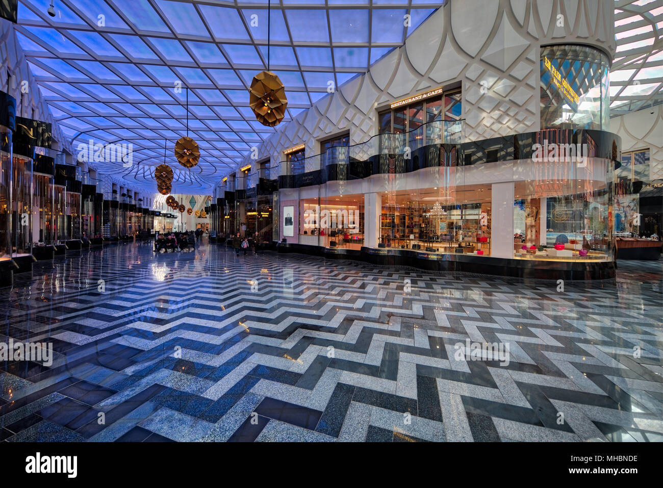 Inside the recently opened Victoria Gate retail centre in Leeds Stock Photo