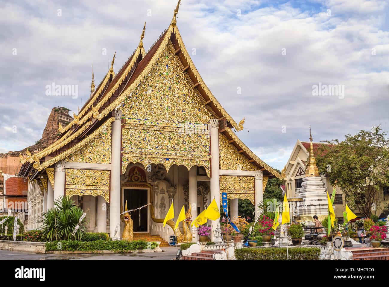 Wat Chedi Luang, Chiang Mai, Northern Thailand | Wat Chedi Luang, Chiang  Mai, Nordthailand - Stock Image