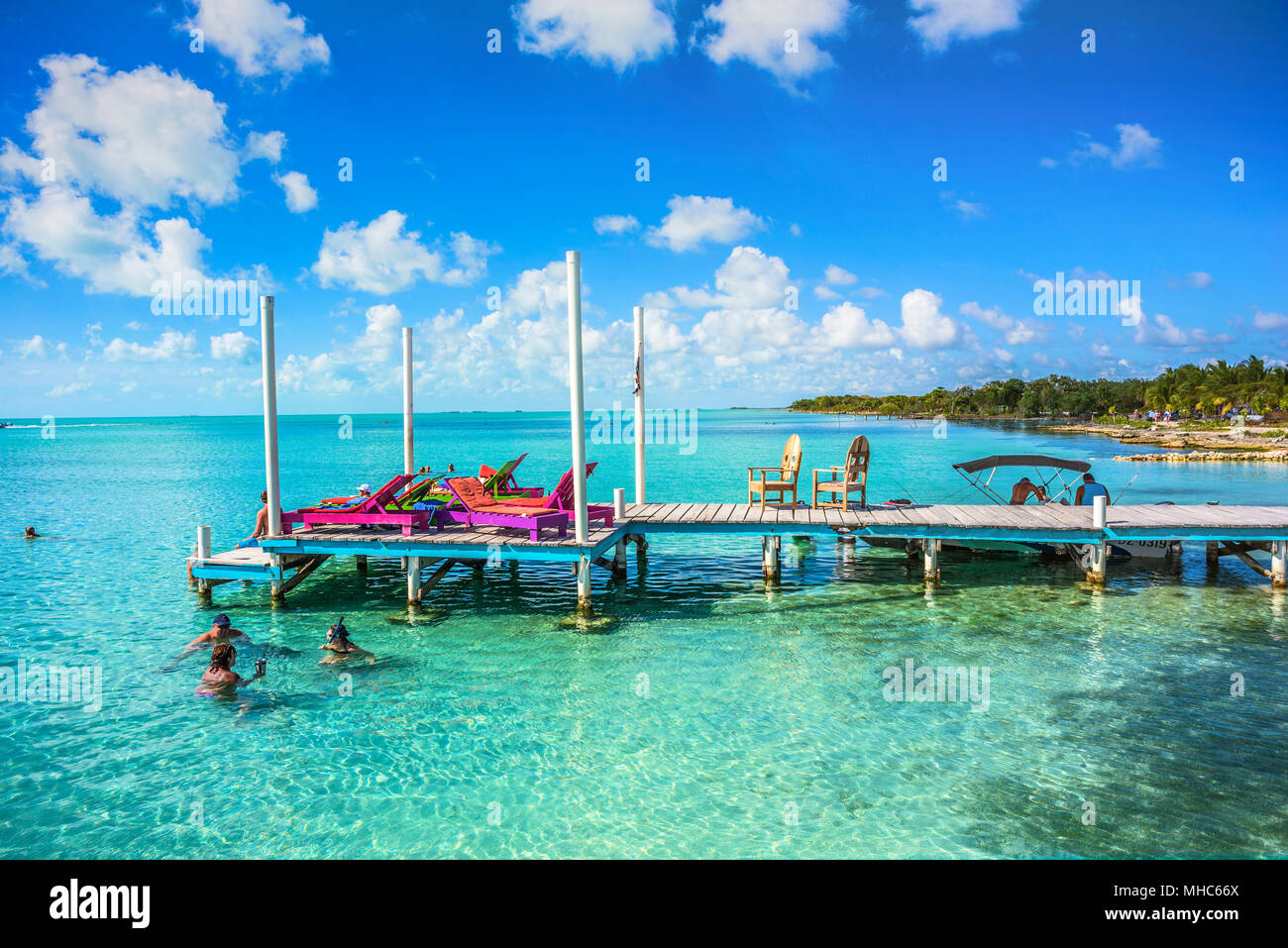 Secret Beach in Ambergris Caye, Belize. Stock Photo
